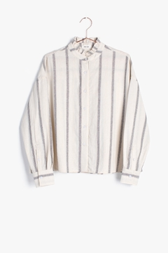 Mod Ref Ruffle Neck Button Up - Product List Image