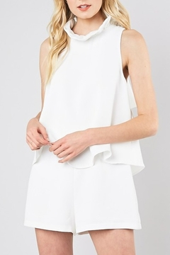Do & Be Ruffle Neck Romper - Product List Image