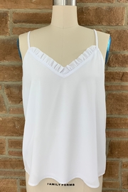 Adrienne Ruffle Neck Tank - Front cropped