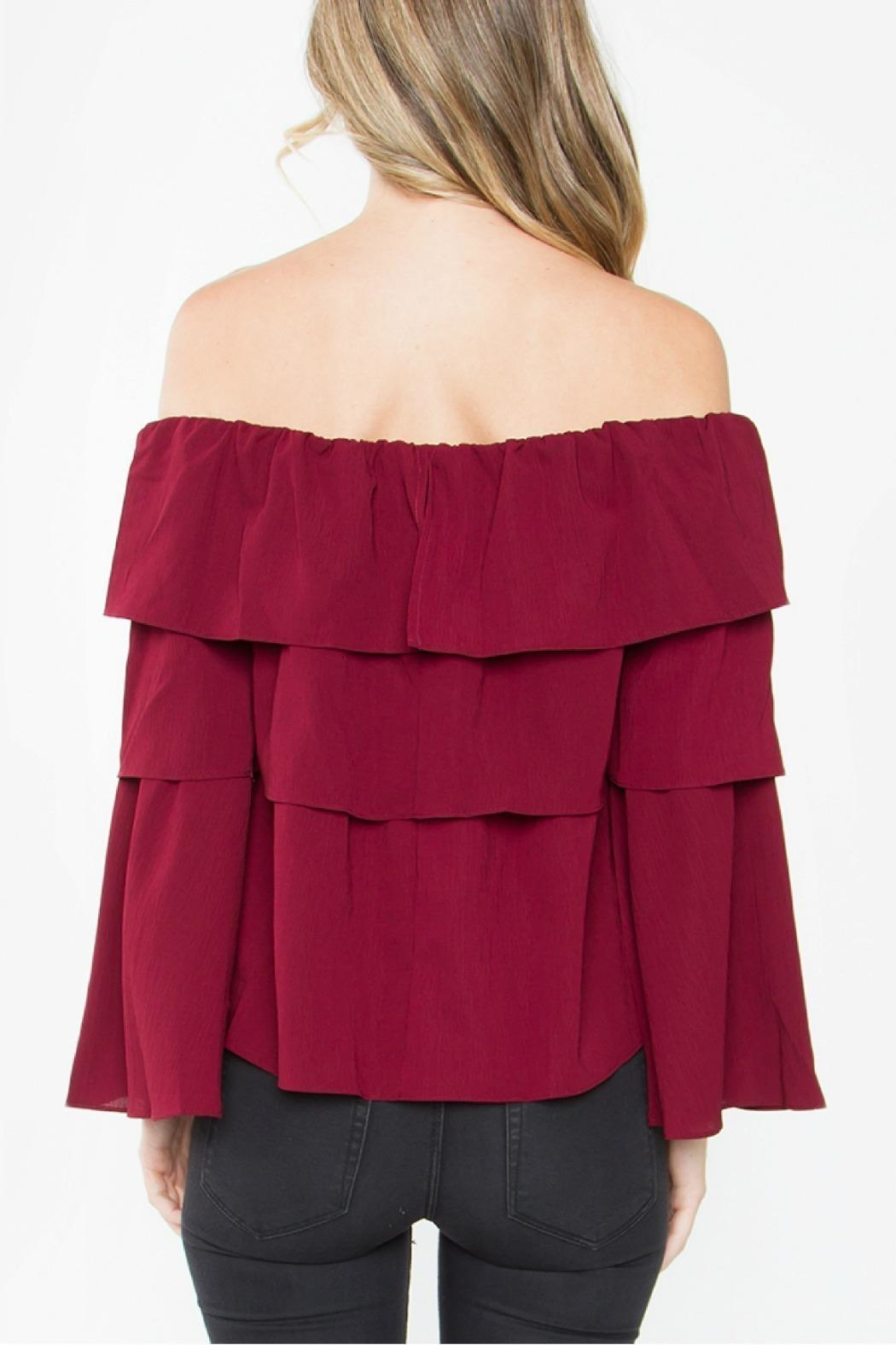 Sugarlips Ruffle Off Shoulder - Front Full Image