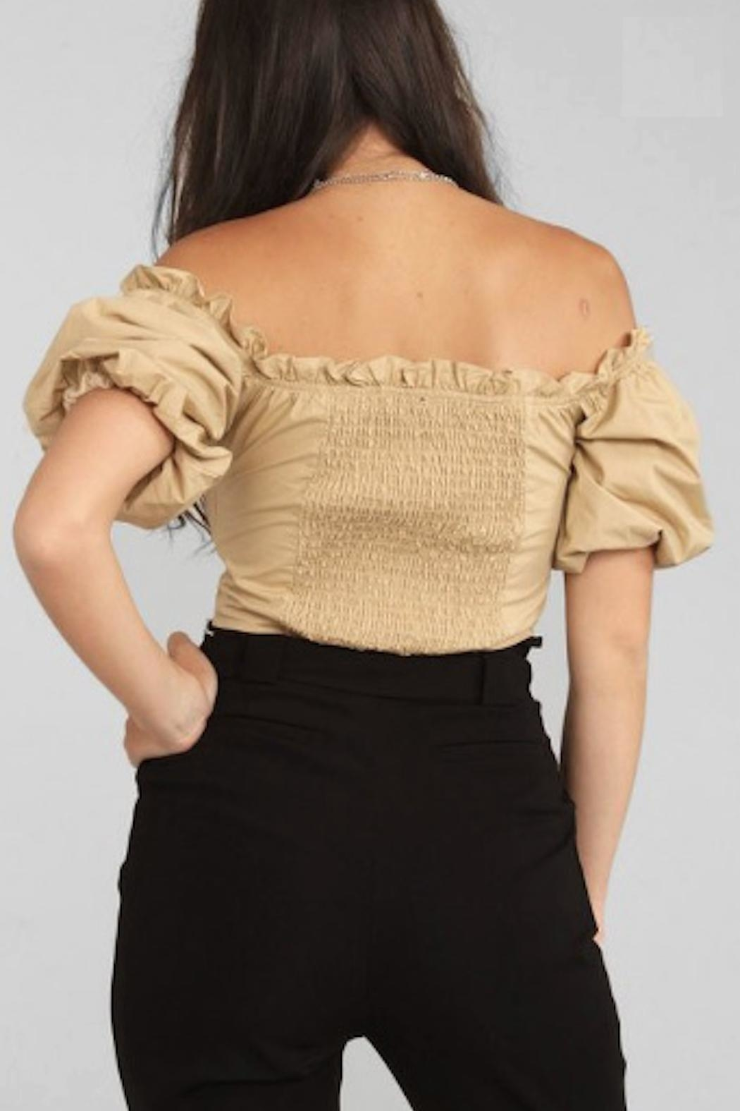 TIMELESS Ruffle Off Shoulder - Side Cropped Image