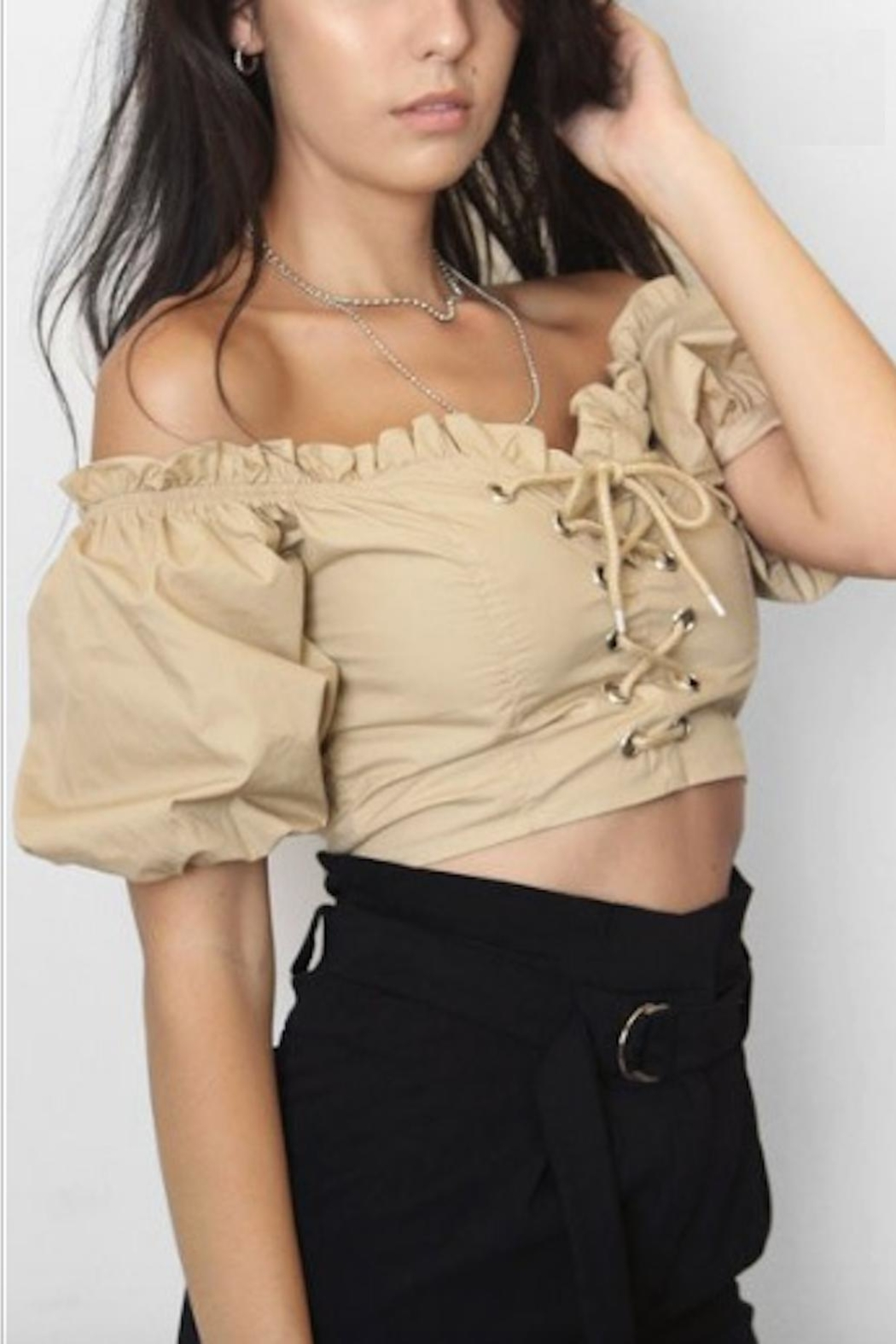 TIMELESS Ruffle Off Shoulder - Front Full Image