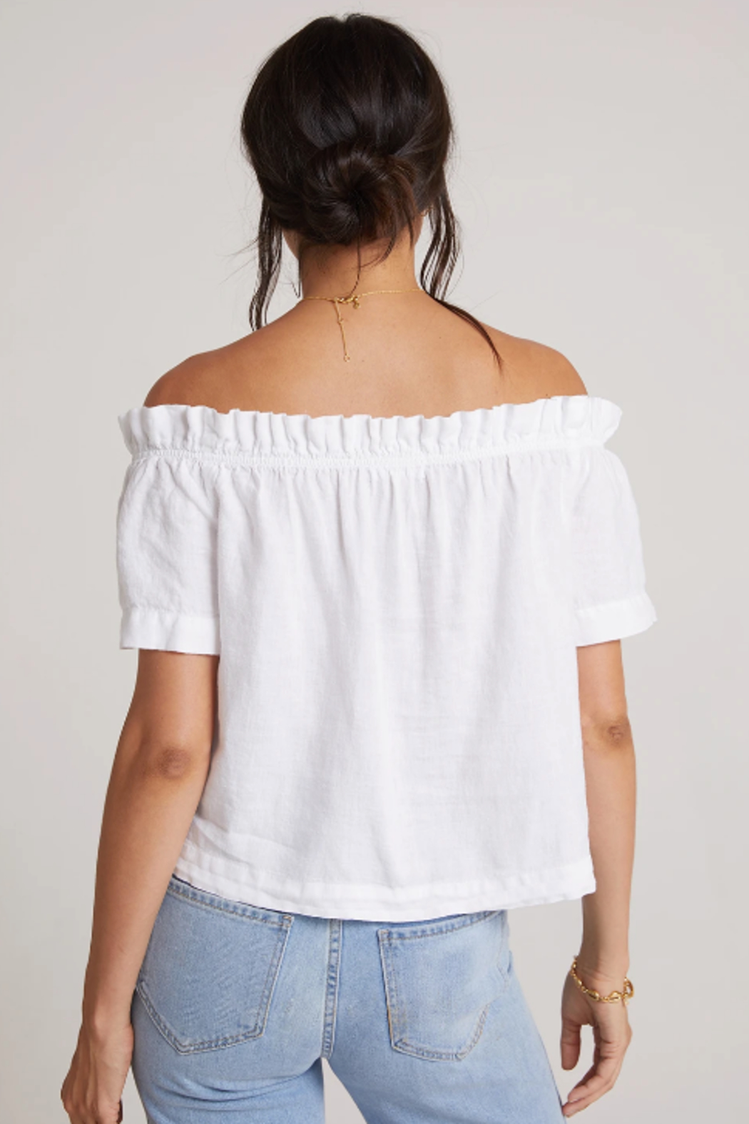 Bella Dahl  Ruffle Off Shoulder Top - Side Cropped Image