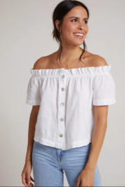 Bella Dahl  Ruffle Off Shoulder Top - Front cropped