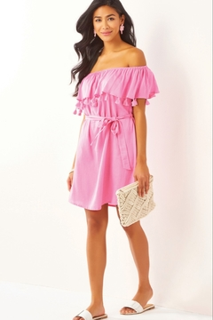 Charlie Paige Ruffle Off The Shoulder Dress - Product List Image