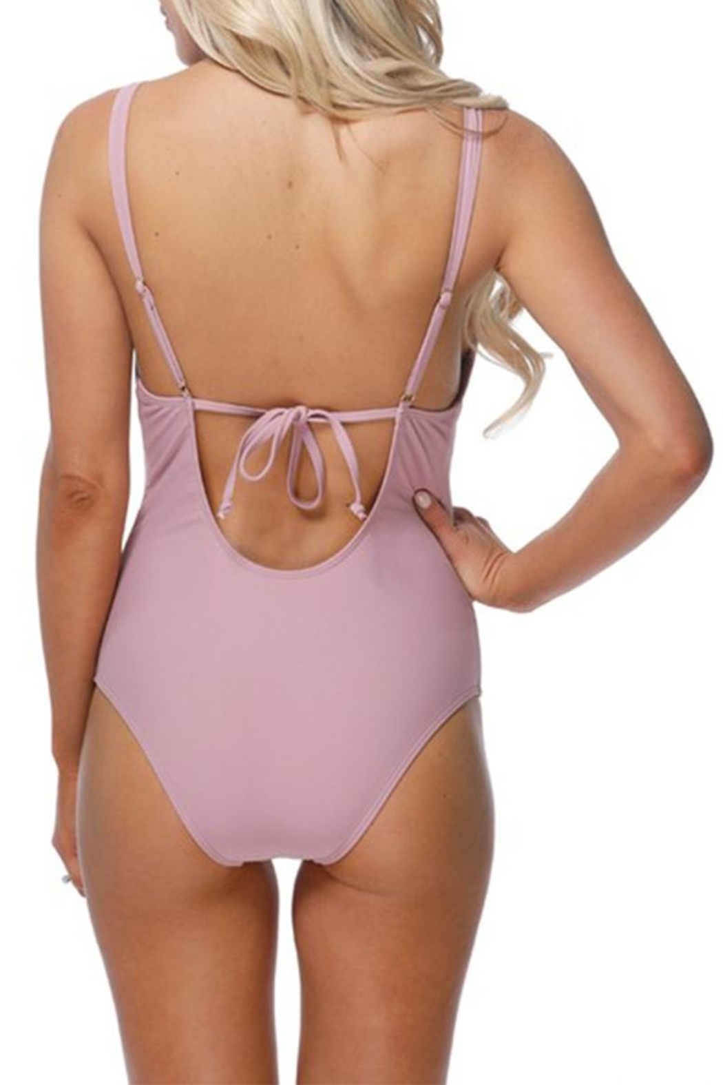 beach joy Ruffle One Piece - Side Cropped Image