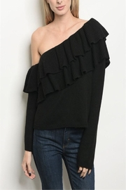 skylar madison Ruffle One-Shoulder Sweater - Product Mini Image
