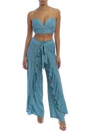 luxxel Ruffle Pant Set - Front cropped