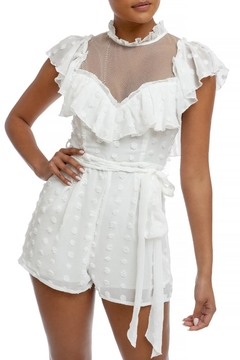 luxxel Ruffle Pleated Romper - Product List Image