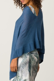 Margaret O'Leary Ruffle Poncho - Front full body