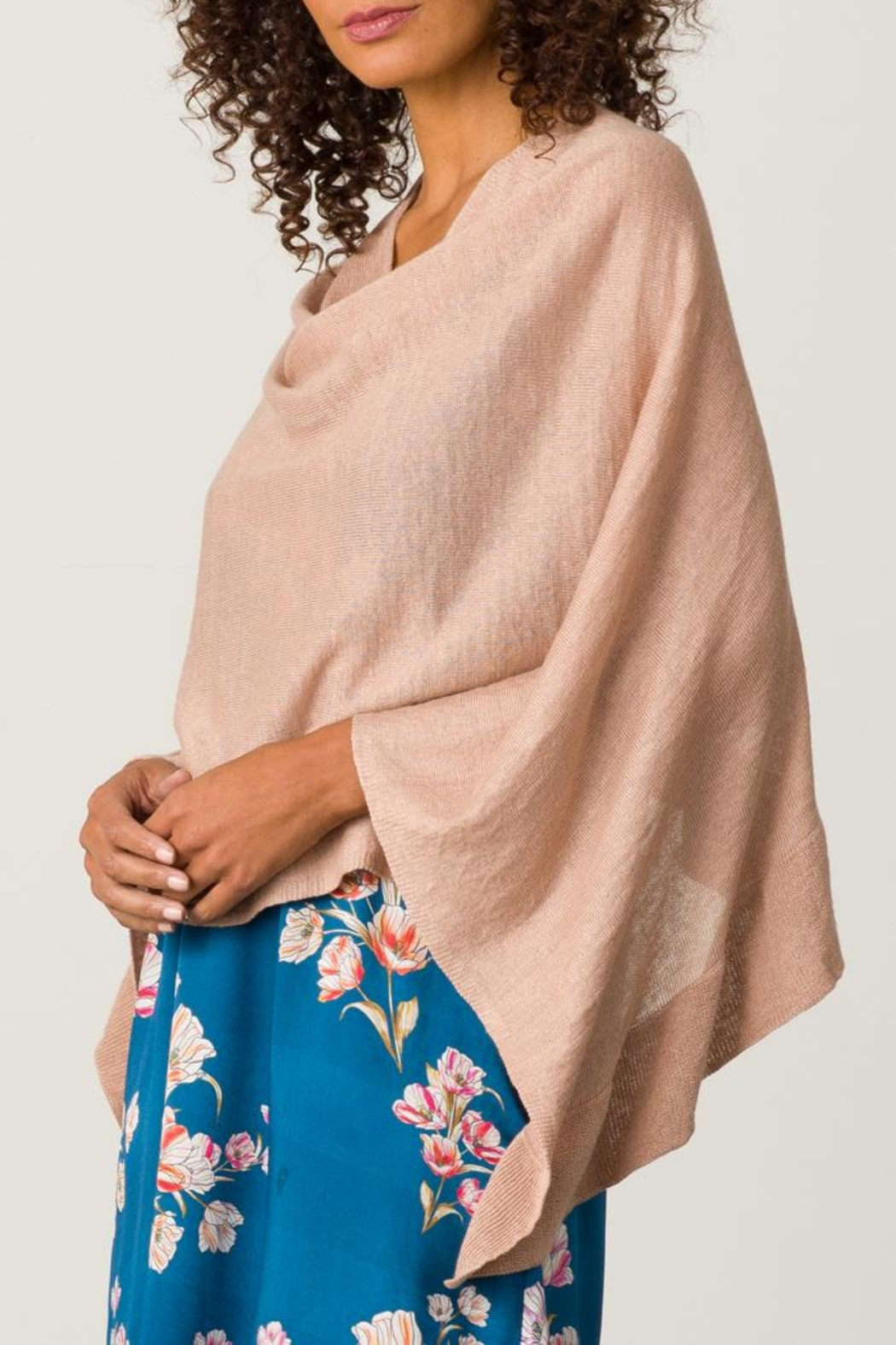 Margaret O'Leary Ruffle Poncho - Front Full Image