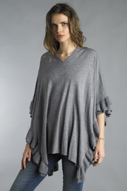 Tempo Paris Ruffle Poncho Sweater - Product Mini Image