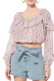 love shack fancy Ruffle Popover Top - Product Mini Image