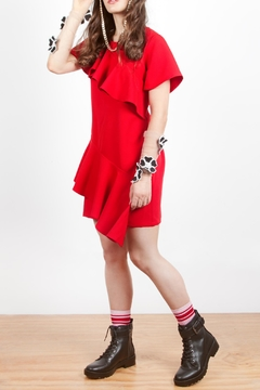 Shoptiques Product: Ruffle Red Dress