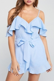 blue blush Ruffle Romper - Product Mini Image