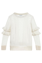 Mayoral Ruffle Shimmer Sweater - Front full body
