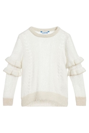 Mayoral Ruffle Shimmer Sweater - Front cropped