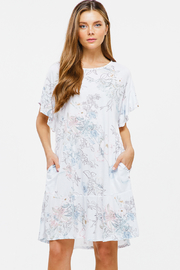 MONTREZ RUFFLE SHORT SLEEVE POCKET BOHO DRESS - Product Mini Image