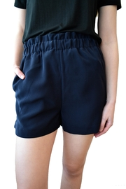 Black Tape Ruffle Shorts - Product Mini Image