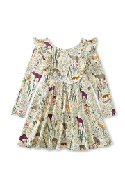 Tea Collection  Ruffle Shoulder Ballet Dress - Swedish Forest - Product Mini Image