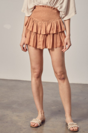 Mustard Seed  Ruffle Skirt With Shorts - Front cropped