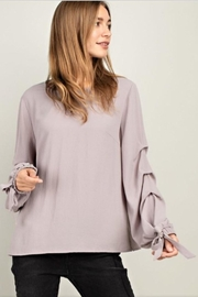Mittoshop Ruffle Sleeve Blouse - Front cropped