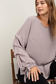 Mittoshop Ruffle Sleeve Blouse - Front full body
