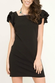 She + Sky Ruffle-Sleeve Bodycon Dress - Product Mini Image