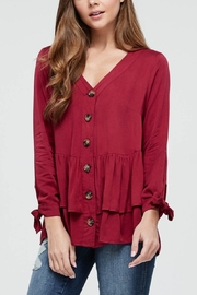 Lyn -Maree's Ruffle Sleeve Button Down - Product Mini Image