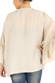 Embellish Ruffle Sleeve Cardigan - Front full body