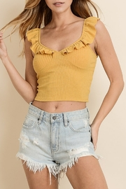Dress Forum  Ruffle Sleeve Crop Tank Top - Product Mini Image