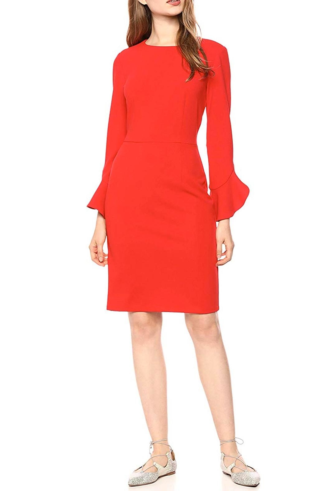 Donna Morgan Ruffle Sleeve Dress - Main Image