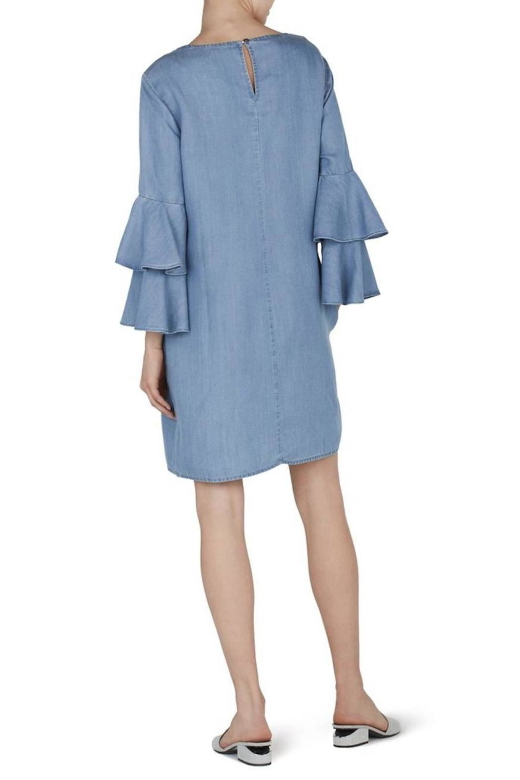 Beach Lunch Lounge Ruffle Sleeve Dress - Front Full Image