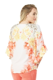 Nygard Ruffle Sleeve Floral - Front full body