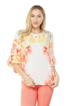 Nygard Ruffle Sleeve Floral - Product List Image