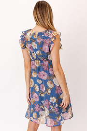 Gilli  Ruffle Sleeve Floral Dress - Back cropped