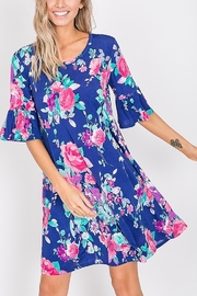 Lyn -Maree's Ruffle Sleeve Floral Dress - Product Mini Image