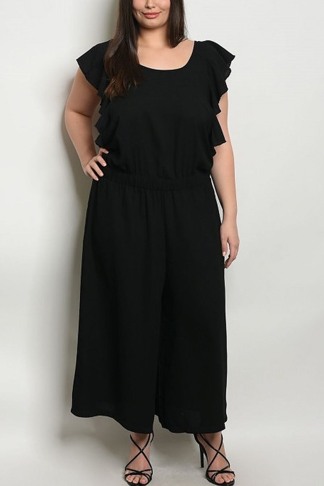 Lyn-Maree's  Ruffle Sleeve Jumpsuit - Main Image