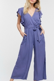 Listicle Ruffle Sleeve Jumpsuit - Product Mini Image