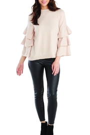 Mud Pie Ruffle Sleeve Mock-Neck - Product Mini Image