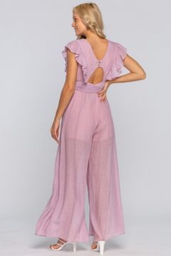 the clothing company Ruffle Sleeve Overwrap Jumpsuit - Alternate List Image