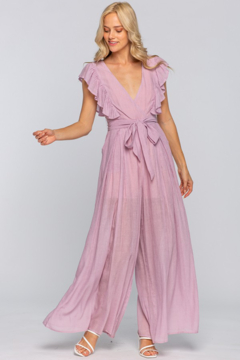 the clothing company Ruffle Sleeve Overwrap Jumpsuit - Product List Image