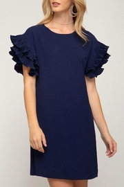 She + Sky Ruffle Sleeve Shift - Product Mini Image