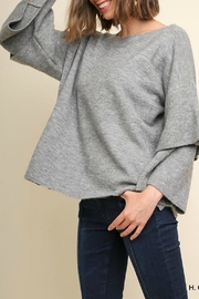 Umgee Ruffle Sleeve Sweater - Front cropped