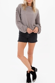 White Crow Ruffle Sleeve Sweatshirt - Product Mini Image