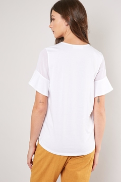 Mustard Seed Ruffle Sleeve Tee - Alternate List Image
