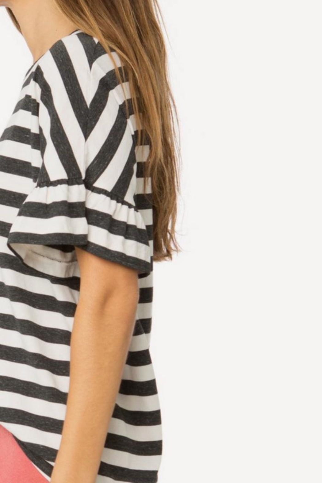 The Great Ruffle Sleeve Tee - Side Cropped Image