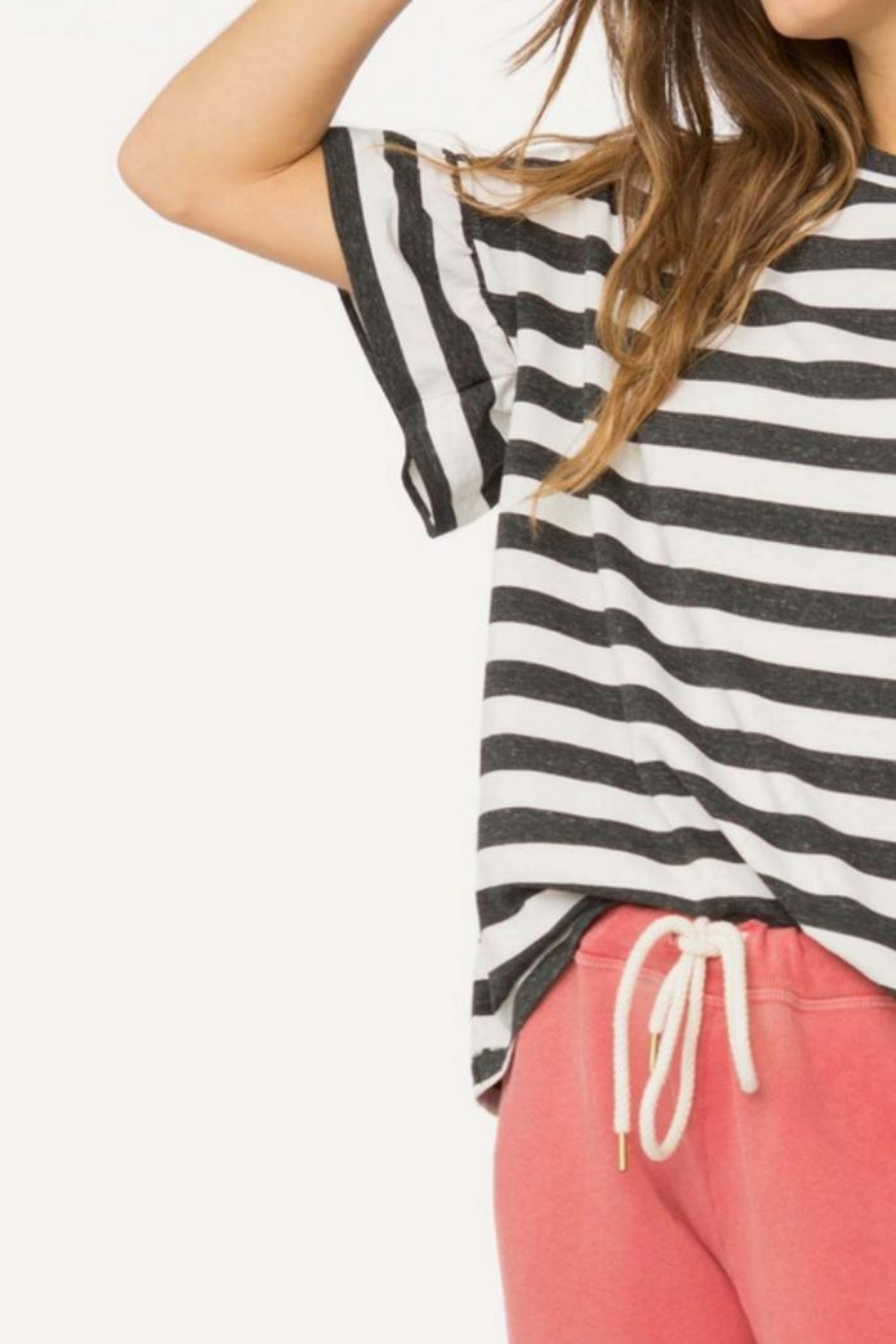 The Great Ruffle Sleeve Tee - Back Cropped Image