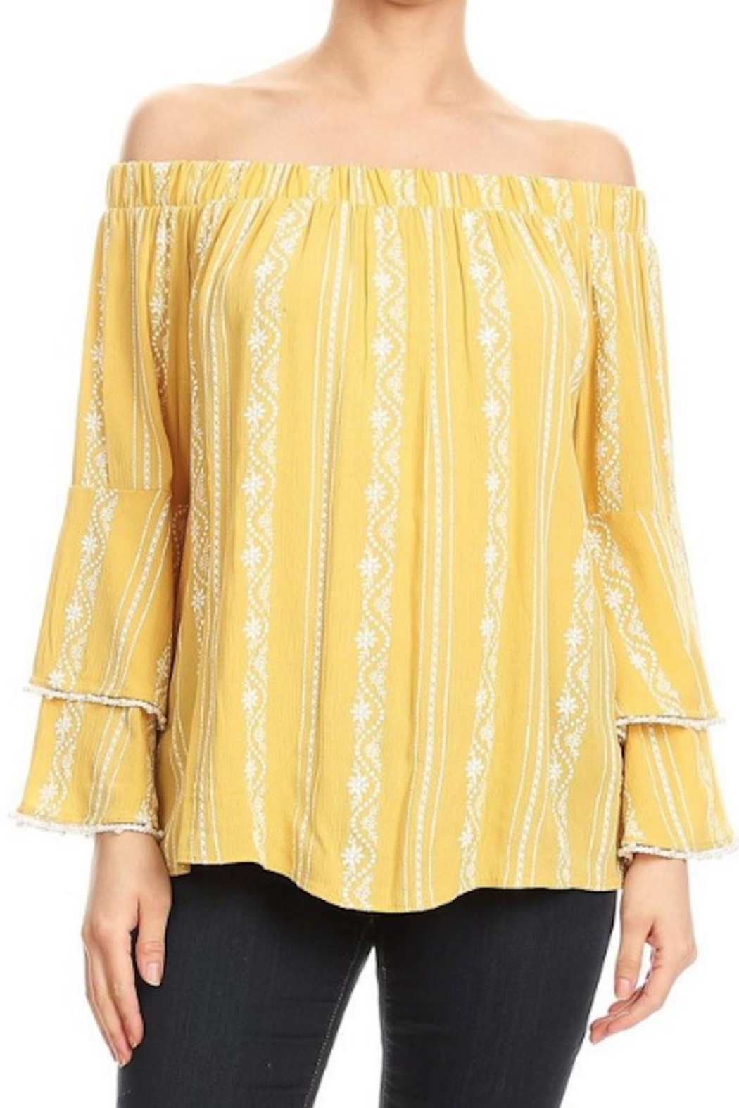 2020c44bd7c502 Ariella Ruffle Sleeve Top from Pennsylvania by The Hanger — Shoptiques