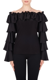 Joseph Ribkoff Ruffle Sleeve Top - Product Mini Image